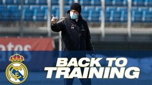 تمرینات رئال مادرید با رعایت فاصله گذاری