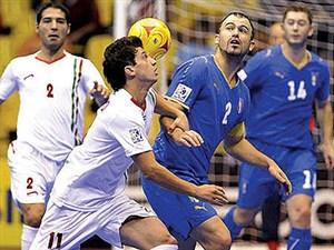 دیدار خاطره انگیز فوتسال ایران 5 - ایتالیا 5 در جام جهانی