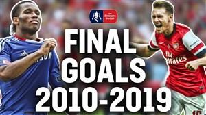 تمام گلهای فینال جام حذفی انگلیس از 2010 تا 2019