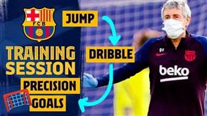 تمرینات آماده سازی امروز بارسلونا