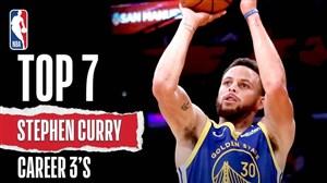 7 امتیاز آخر استفن کری در لیگ حرفهای بسکتبال NBA