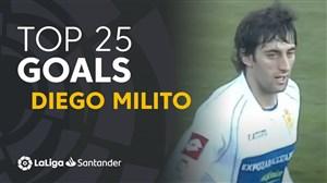 25 گل برتر دیگو میلیتو در لالیگا