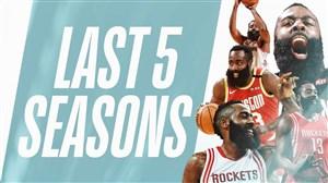 برترین امتیازهای جیمز هاردن در 5 فصل اخیر NBA