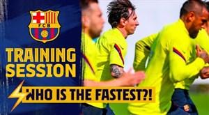 تمرینات امروز تیم بارسلونا (06-03-99)
