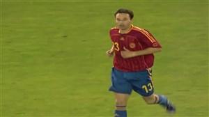 اولین بازی آندرس اینیستا در تیم ملی اسپانیا