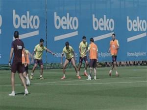 درخشش لیونل مسی در تمرینات بارسلونا