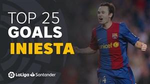25 گل برتر آندرس اینیستا در لالیگا برای بارسلونا