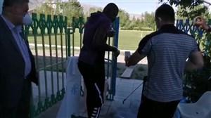 حضور شیخ دیاباته در تمرینات استقلال