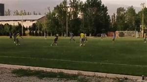 لحظاتی از بازی درون تیمی استقلال با گلزنی مطهری