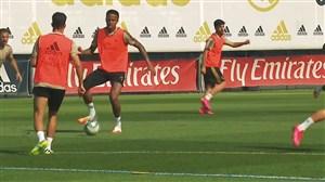 اولین تمرینات کلی رئال مادرید بعد از دوران قرنطینه
