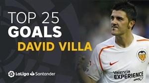 25 گل برتر داوید ویا در لالیگا اسپانیا