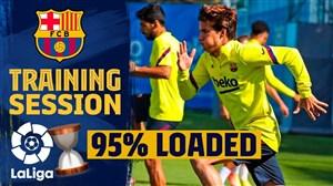 تمرینات بارسلونا و آمادگی برای آغار لیگ