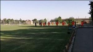تمرینات تیم فوتبال شاهین بوشهر در منطقه شهریار