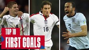 10 گل برتر از اولین گل ستارگان تیم ملی انگلیس