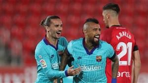 گل اول بارسلونا به مایورکا توسط ویدال