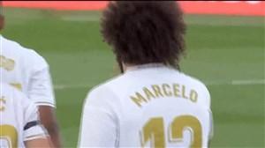 گل سوم رئال مادرید به ایبار با شوت زیبای مارسلو