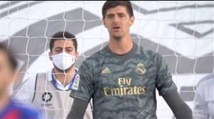 اشتباه عجیب کورتوا و گل اول ایبار به رئال مادرید