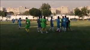 درگیری بازیکنان درحاشیه دیدار تدارکاتی پارس جم - نفت مسجدسلیمان