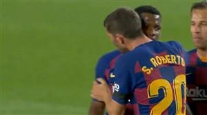 گل اول بارسلونا به لگانس توسط آنسو فاتی