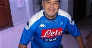 شادی مارادونا از قهرمانی ناپولی(عکس)