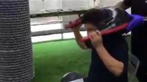 تمرینات اختصاصی امیر قلعهنویی با مربی بدنساز