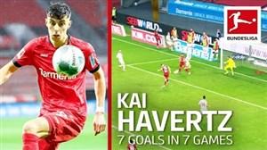 کای هاورتز ستاره این فصل بوندسلیگا؛ 7 گل در 7 بازی