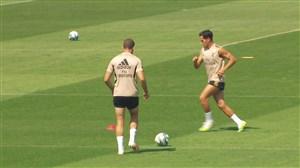 اولین تمرینات رئال مادرید برای دیدار با اسپانیول