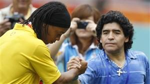 رونالدینیو- مارادونا؛ رویای فوتبال تعبیر می شود؟