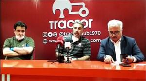 کنفرانس خبری فکری پیش از بازی تراکتور-نساجی