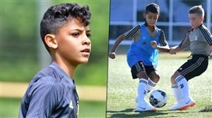 پسر رونالدو سخت در تلاش برای جایگزینی پدرش