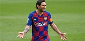 گل دوم بارسلونا مقابل اتلتیکو (مسی - پنالتی)