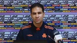 نشست خبری ابراهیم صادقی قبل از بازی با استقلال