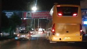 اسکورت اتوبوس بازیکنان پرسپولیس توسط هواداران