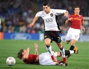 برد خاطره انگیز منچستریونایتد برابر آاس رم با گل رونالدو