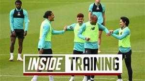 تمرینات لیورپول برای آماده سازی تیم