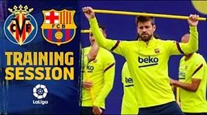 تمرینات بارسلونا برای تقابل با ویارئال در هفته 34 لالیگا