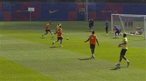 آخرین تمرینات بارسلونا برای دیدار برابر ویارئال