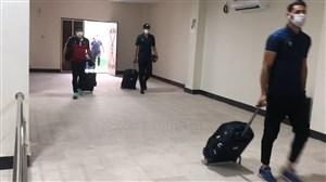 ورود بازیکنان نساحی به ورزشگاه شهید وطنی