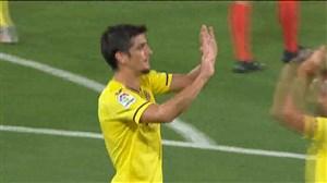 گل اول ویارئال به بارسلونا توسط مورنو