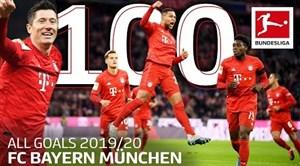 تمام صد گل بایرن مونیخ در بوندسلیگا 20-2019