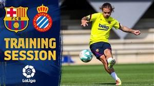 تمرینات بارسلونا برای آماده سازی بازی با اسپانیول