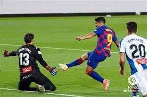 بارسا 1-0 اسپانیول: امضای سوارز زیر سقوط همشهری