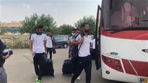 ورود اتوبوس ماشینسازی به ورزشگاه شهید سلیمانی