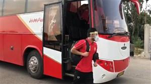 ورود بازیکنان پرسپولیس به ورزشگاه شهید سلیمانی