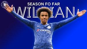نگاهی به عملکرد ویلیان در چلسی در فصل 20-2019