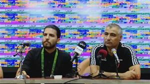 نشست خبری الهامی پس از دیدار استقلال و تراکتور