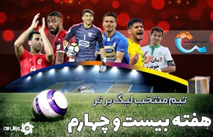 تیم منتخب هفته بیست و چهارم لیگ برتر