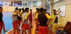دومین تمرین تیم ملی فوتسال زیر نظر ناظم الشریعه