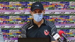 نشست خبری گل محمدی قبل از دیدار برابر فولاد