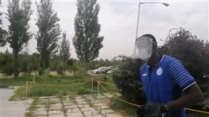 حضور وریاغفوری و بازیکنان استقلال در محل تمرین